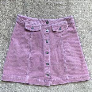 H&M velvet button down skirt
